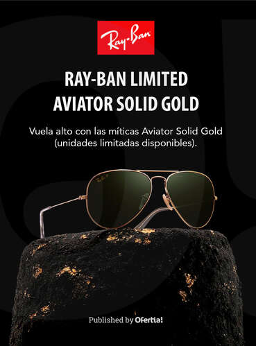 Ray-Ban Limited Aviator Solid Gold 🔥- Page 1