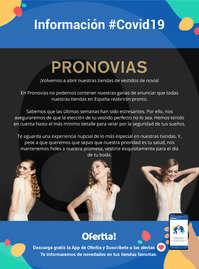 Información Pronovias #covid19