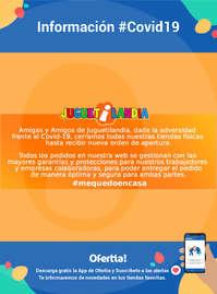 Información Juguetilandia #Covid19