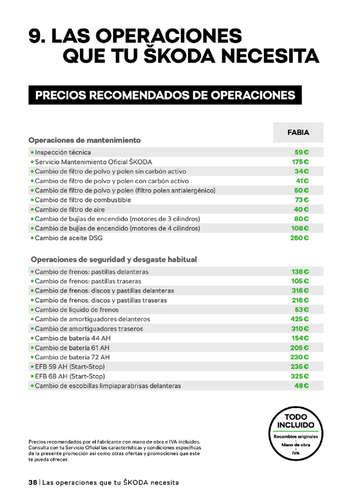 Catálogo de Servicios Skoda- Page 1
