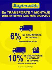 En transporte y montaje también somos los más baratos 🚛