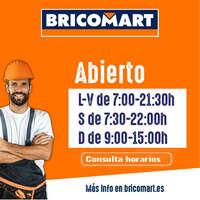 Horarios Bricomart