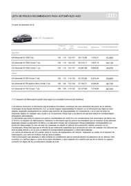 Lista Precios Audi A4 Advanced