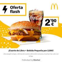 ¡Cuarto de Libra + Bebida Pequeña por 2,90€!