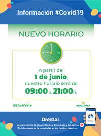 Información - Nuevo Horario#Covid19