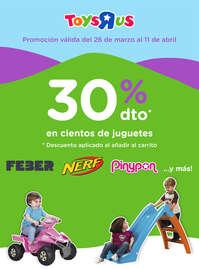 30% dto. en cientos de juguetes