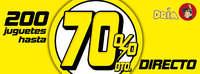 200 juguetes 70% de descuento