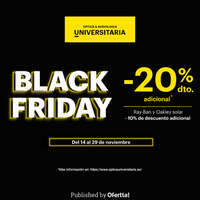 Black Friday con -20% adicional