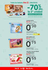 Todos los helados Dia o Delicious -70% la segunda unidad