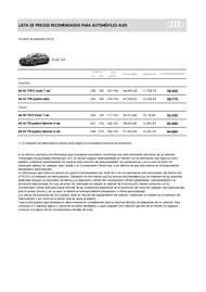 Lista de precios Audi A6