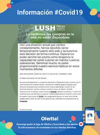 Información Lush #Covid19
