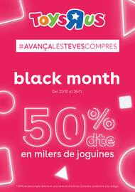 Black Month. 50% dte en milers de joguines