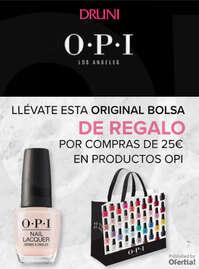 Compra productos OPI y llévate esta bolsa