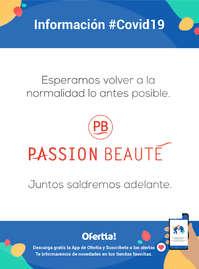 Información Passion Beauté #Covid19