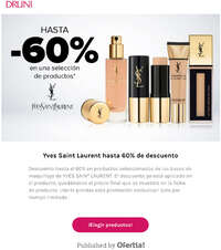 Hasta un 60% en productos Yves Saint Laurent