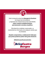 Bricocentro Informa - Burgos #EsteVirusLoParamosUnidos