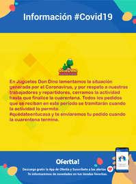 Información Don Dino #covid19 #quédateentucasa