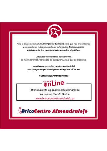 Bricocentro Informa - Almendralejo #EsteVirusLoParamosUnidos- Page 1