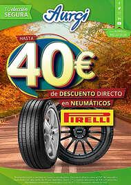 Hasta 40€ de descuento directo en neumáticos Pirelli