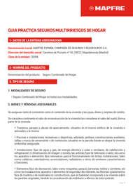Guía práctica seguros multirriesgos de hogar