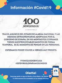 Información 100 montaditos #Covid19