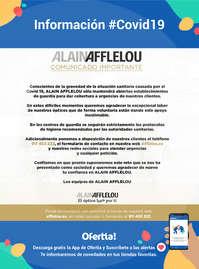 Información #covid19 Alain Afflelou: Comunicado Importante