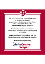 Bricocentro Informa - Verger #EsteVirusLoParamosUnidos