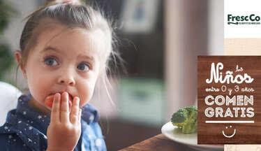 Los niños entre 0 y 3 años comen gratis- Page 1