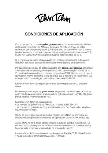 Condiciones de aplicación- Page 1