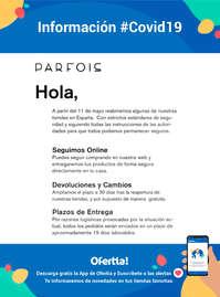 Información Parfois #covid19