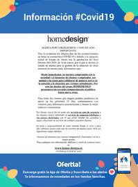Información Homedesign #Covid19