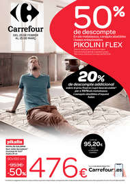 50% de descompte en matalassos, canapès abatibles i basses entapissades PIKOLIN i FLEX