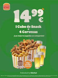 1 cubo de snack + 4 cervezas 🍺 por 14,99€