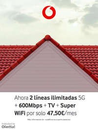 Ahora 2 líneas ilimitadas 5G