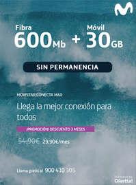 Fibra 600 Mb + Móvil 30 GB
