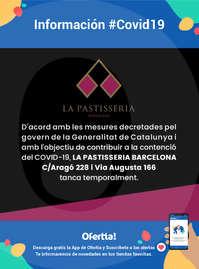 Información La Pastisseria #Covid19