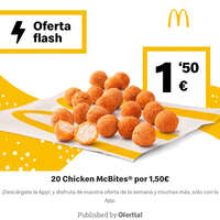 20 Chicken McBites por 1,50€