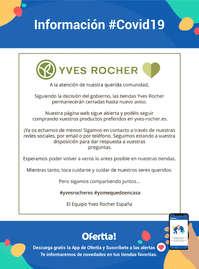 Información Yves Rocher #covid19 #yomequedoencasa