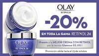 20% en la gama retinol24