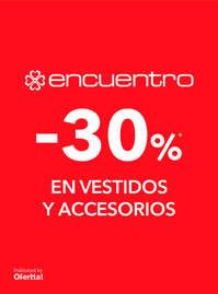 -30% en vestidos y accesorios