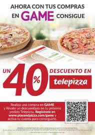 Con tus compras en Game consigue un 40% de descuento en Telepizza 🤑