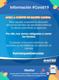 Aviso a clientes de Master Cadena #Covid19