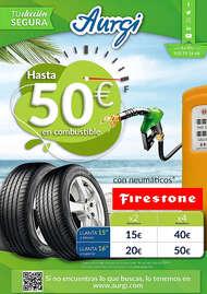 Hasta 50€ en combustible con neumáticos Firestone* 🤑