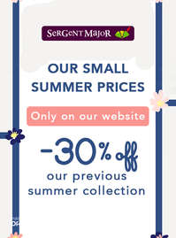 Our small summer prices -30% off
