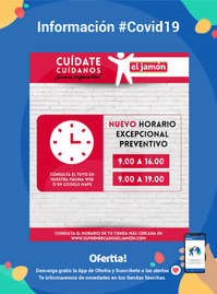 Información Supermercados El Jamón #Covid19