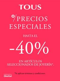 Precios especiales. Hasta el -40%