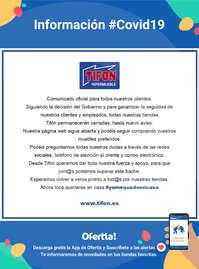 Información Tifón Hipermueble #Covid19