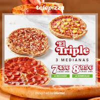 El triple (3 medianas) 🍕❤️