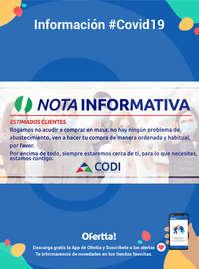 Información Supermercados Codi #Covid19