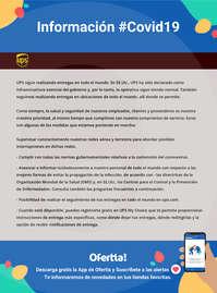 Información UPS #Covid19